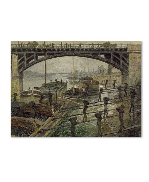 "Trademark Global Monet 'The Coalmen' Canvas Art - 47"" x 35"" x 2"""
