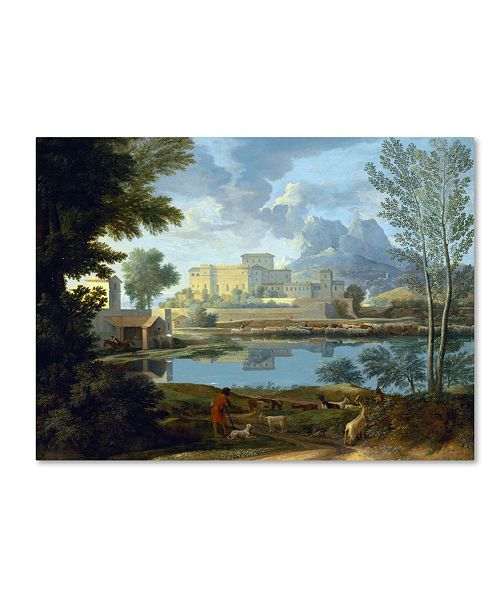 "Trademark Global Nicolas Poussin 'Landscape With Calm' Canvas Art - 24"" x 18"" x 2"""