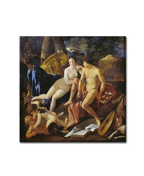 "Trademark Global Nicolas Poussin 'Venus And Mercury' Canvas Art - 18"" x 18"" x 2"""