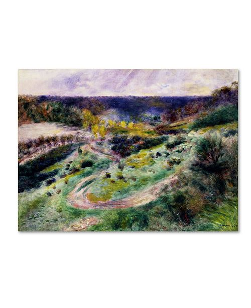 "Trademark Global Renoir 'Road At Wargemon' Canvas Art - 47"" x 35"" x 2"""