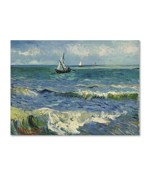 "Trademark Global Van Gogh 'Seascape Near Les Saintesmariesdelamer' Canvas Art - 47"" x 35"" x 2"""