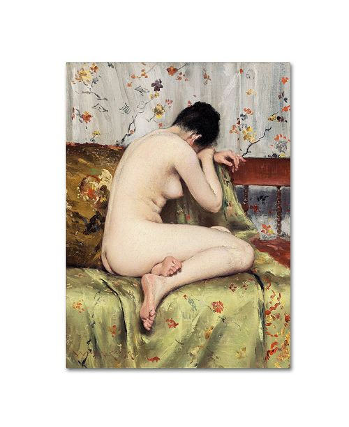 "Trademark Global William Merritt Chase 'A Modern Mary Magdalen' Canvas Art - 19"" x 14"" x 2"""