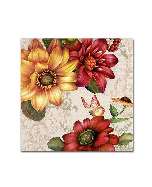 "Trademark Global Jean Plout 'Autumn Bouquet 6' Canvas Art - 35"" x 35"" x 2"""