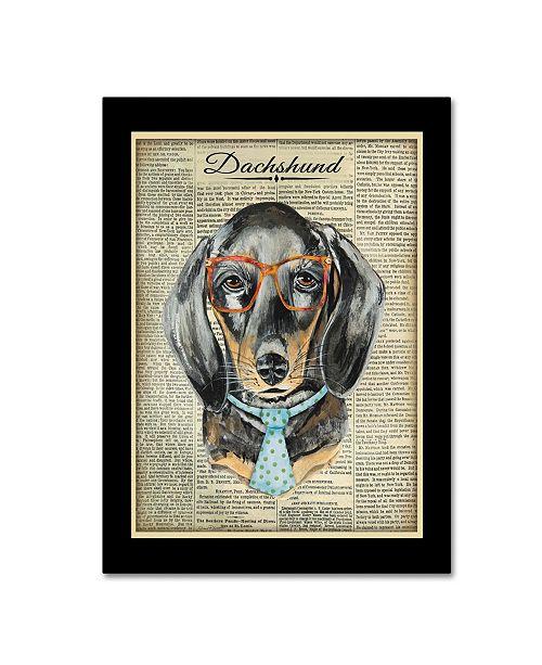 "Trademark Global Jean Plout 'Dachshund' Canvas Art - 47"" x 35"" x 2"""