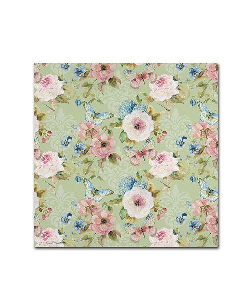 "Trademark Global Jean Plout 'Botanical Beauty 1' Canvas Art - 18"" x 18"" x 2"""