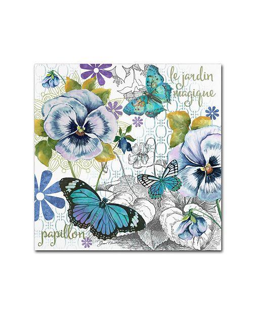 "Trademark Global Jean Plout 'Garden Magic 1' Canvas Art - 35"" x 35"" x 2"""