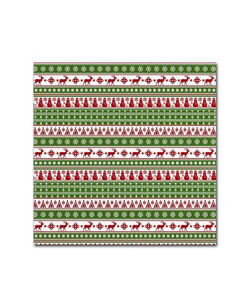 "Trademark Global Jean Plout 'Alpine Christmas 2' Canvas Art - 14"" x 14"" x 2"""