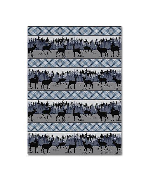 "Trademark Global Jean Plout 'Deer Trail Lodge 3' Canvas Art - 47"" x 35"" x 2"""