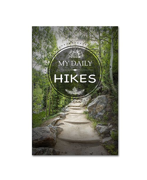 """Trademark Global Jean Plout 'My Daily HIKES' Canvas Art - 24"""" x 16"""" x 2"""""""