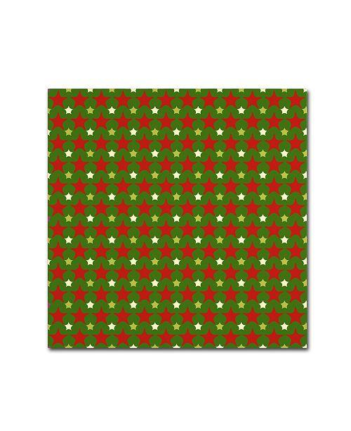 "Trademark Global Jean Plout 'Ugly Christmas Sweater Santa 7' Canvas Art - 35"" x 35"" x 2"""