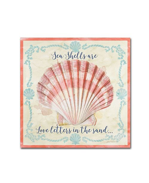 "Trademark Global Jean Plout 'Sea Shells 1' Canvas Art - 18"" x 18"" x 2"""