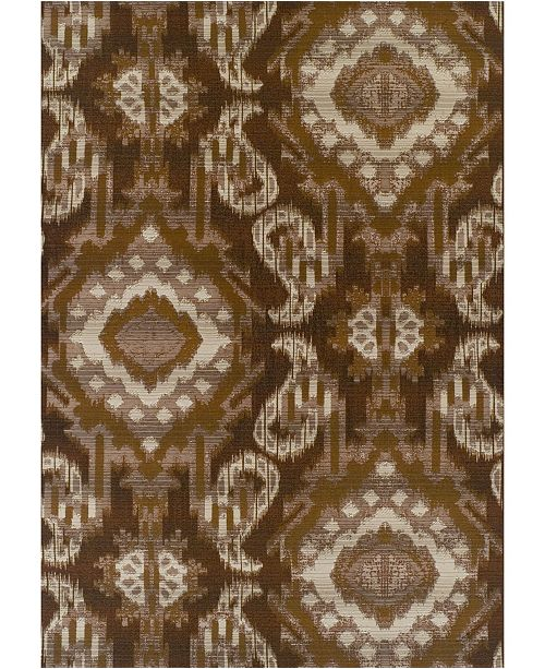 "D Style Weekend Wkd7 Chocolate 5'1"" x 7' Area Rug"