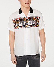 INC Men's Blitz Comic Camp Shirt, Created for Macy's