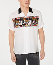 I.N.C. Men's Blitz Comic Camp Shirt, Created for Macy's