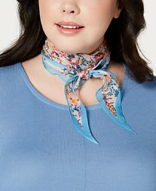 Echo Ditzy Floral Silk Diamond Scarf