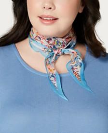 Echo Ditzy Floral Silk Diamond Scarf
