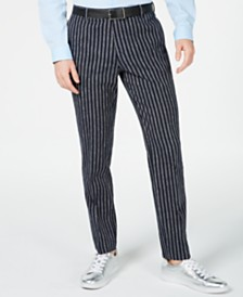 I.N.C. Men's Slim Stripe Pants, Created for Macy's