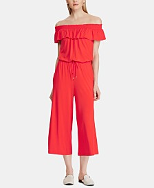 Lauren Ralph Lauren Petite Off-The-Shoulder Jumpsuit