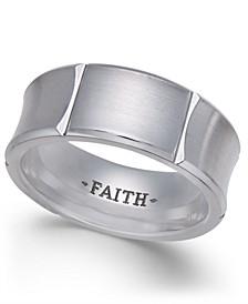 Men's Concave Cobalt Ring
