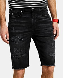 "Men's Slim-Fit Ripped 11"" Shorts"