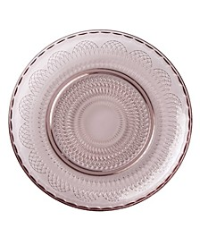 Global Tapestry Glass Accent/Salad Plate Plum