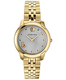 Women's Swiss Audrey V Gold-Tone Stainless Steel Bracelet Watch 38mm