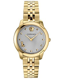 Versace Women's Swiss Audrey V Gold-Tone Stainless Steel Bracelet Watch 38mm