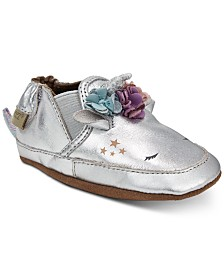 Robeez Baby Girls Uma Unicorn Soft Sole Shoes