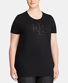 Lauren Ralph Lauren Plus Size Slim-Fit Jersey T-Shirt