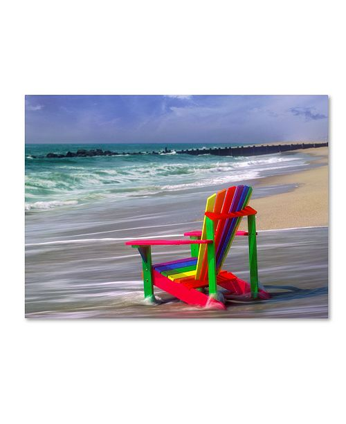 "Trademark Global Mike Jones Photo 'Rainbow Chair' Canvas Art - 32"" x 24"" x 2"""