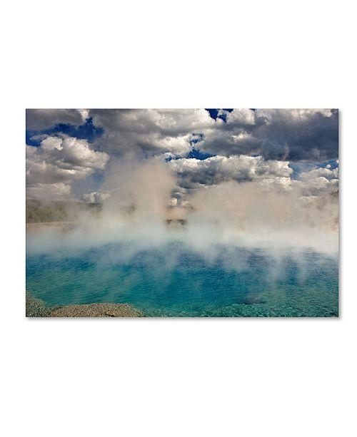 "Trademark Global Mike Jones Photo 'Excelsior Geiser' Canvas Art - 19"" x 12"" x 2"""