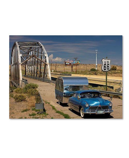 "Trademark Global Mike Jones Photo 'Albaquerque Rt 66 Rio Puerco Bridge' Canvas Art - 47"" x 35"" x 2"""