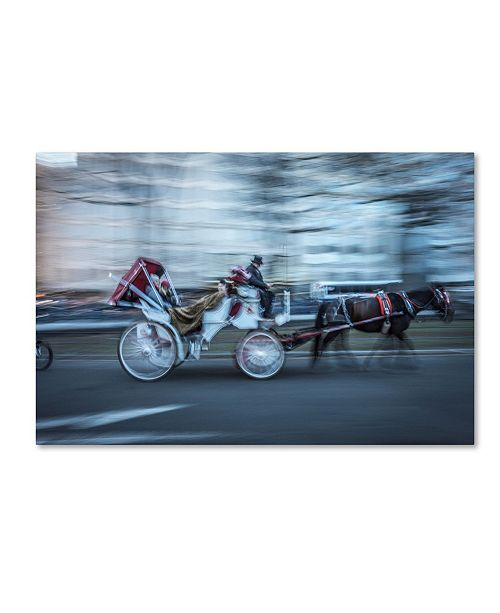 "Trademark Global Moises Levy 'Motion Horse 3' Canvas Art - 24"" x 16"" x 2"""