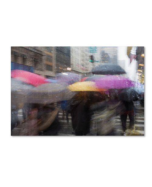"""Trademark Global Moises Levy 'Umbrellas 1' Canvas Art - 19"""" x 12"""" x 2"""""""
