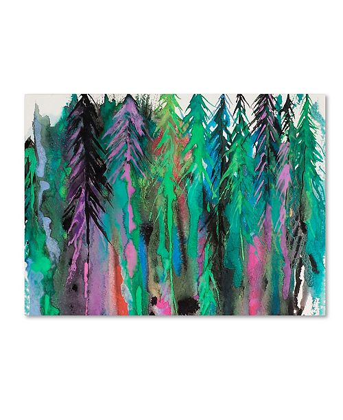 """Trademark Global Michelle Faber 'Colorful Forest' Canvas Art - 24"""" x 18"""" x 2"""""""
