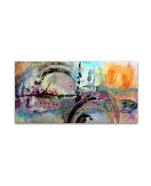 """Trademark Global Natasha Wescoat 'Across The Hemisphere' Canvas Art - 47"""" x 24"""" x 2"""""""