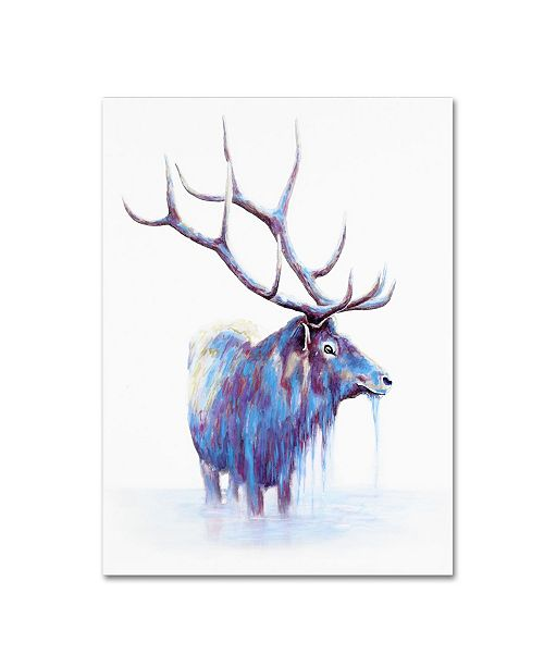 "Trademark Global Michelle Faber 'Elk In Water' Canvas Art - 24"" x 18"" x 2"""