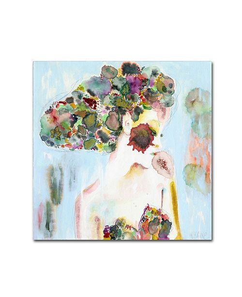 "Trademark Global Wyanne 'Mere Existence Is Beauty' Canvas Art - 35"" x 35"" x 2"""