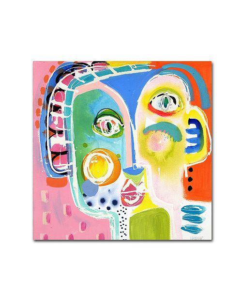 "Trademark Global Wyanne 'Awkward Moment' Canvas Art - 14"" x 14"" x 2"""