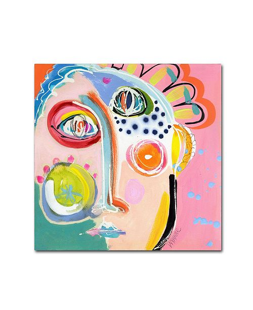 "Trademark Global Wyanne 'Cheer Up' Canvas Art - 35"" x 35"" x 2"""