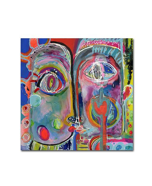 """Trademark Global Wyanne 'What Youre Really Thinking' Canvas Art - 18"""" x 18"""" x 2"""""""