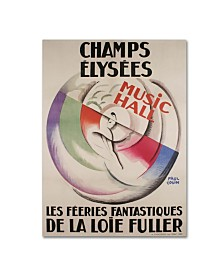 "Vintage Apple Collection 'Champs Elysees' Canvas Art - 47"" x 35"" x 2"""