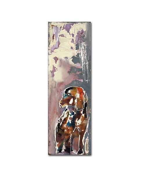 """Trademark Global Wyanne 'Time Out' Canvas Art - 10"""" x 32"""" x 2"""""""