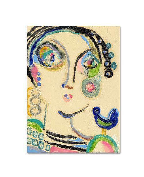 "Trademark Global Wyanne 'Bluebird On My Shoulder' Canvas Art - 47"" x 35"" x 2"""