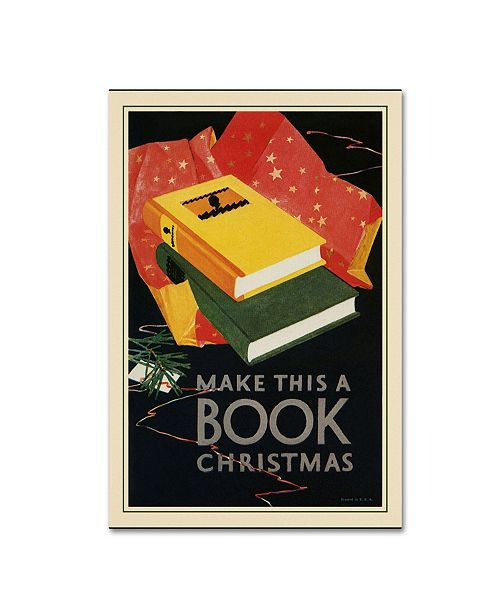 "Trademark Global Vintage Lavoie 'Book Publishers 1927' Canvas Art - 47"" x 30"" x 2"""