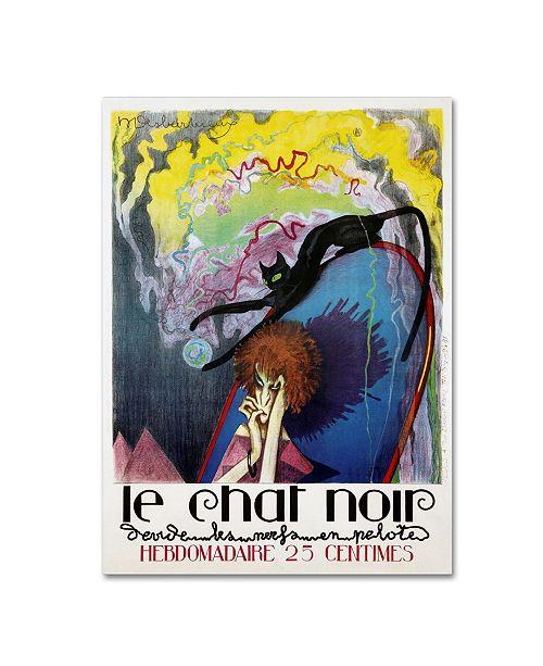 """Trademark Global Vintage Lavoie 'Le Chat Noir by Henri Desbarbieux' Canvas Art - 19"""" x 14"""" x 2"""""""