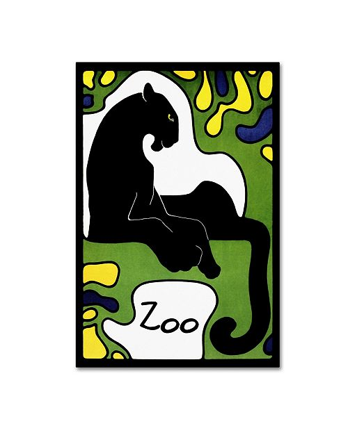 "Trademark Global Vintage Lavoie 'Zoo 1' Canvas Art - 24"" x 16"" x 2"""