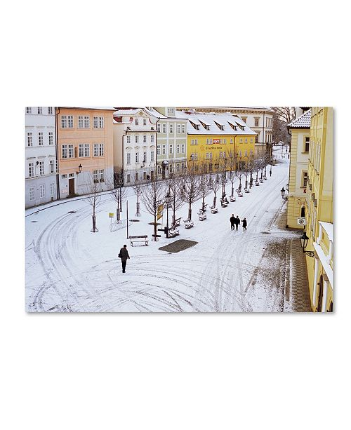 """Trademark Global Robert Harding Picture Library 'Snowy Road' Canvas Art - 47"""" x 30"""" x 2"""""""