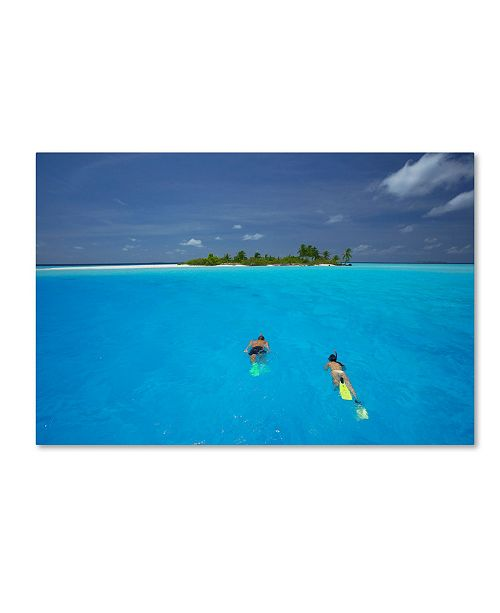 """Trademark Global Robert Harding Picture Library 'Swimming 2' Canvas Art - 19"""" x 12"""" x 2"""""""