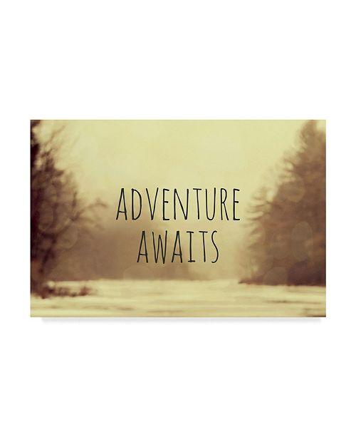 "Trademark Global Vintage Skies 'Adventure Awaits II' Canvas Art - 19"" x 12"" x 2"""